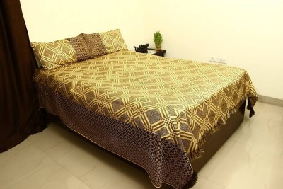 Lavish Silk Embroidered Queen sized Double Bedsheet