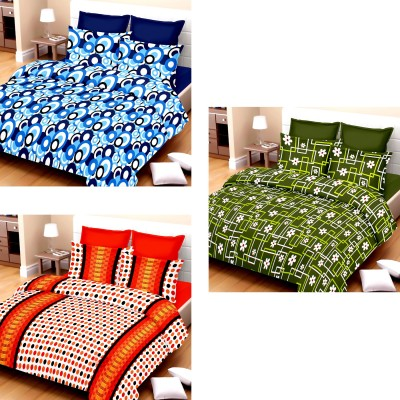 Vastra Buzz Cotton Striped King sized Double Bedsheet