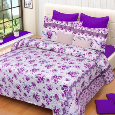 HOME ELITE Polycotton 3D Printed Double Bedsheet