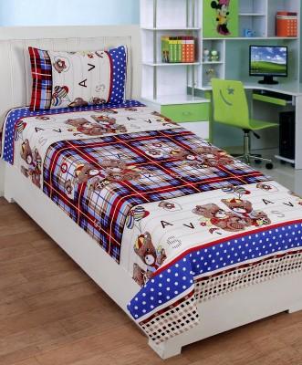 SHREEJEE Polycotton Cartoon Single Bedsheet