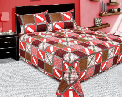 Bed & Bath Cotton Checkered Queen sized Double Bedsheet