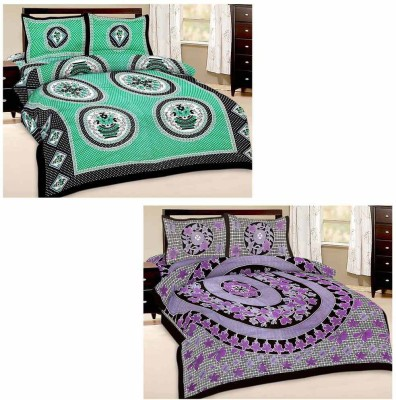 Tradition India Cotton Checkered Double Bedsheet