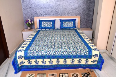 luxurious home Cotton Printed Double Bedsheet