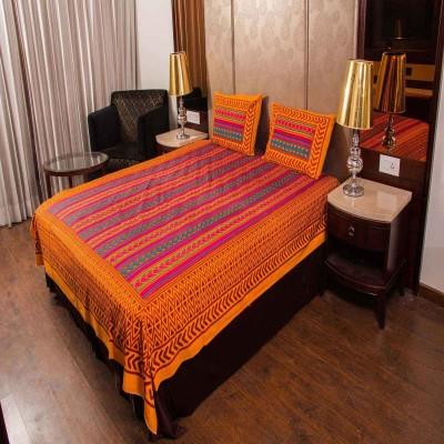 RajLaxmi Cotton Floral Double Bedsheet