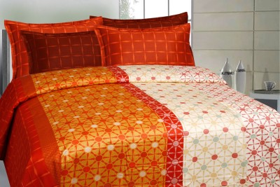 CURL UP Satin Printed King sized Double Bedsheet