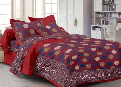 Cenizas Cotton Abstract Queen sized Double Bedsheet