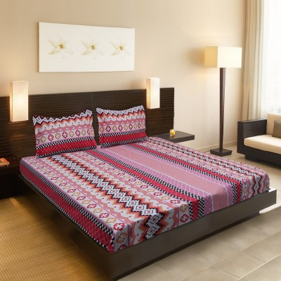 Calico Touch Cotton Geometric Double Bedsheet
