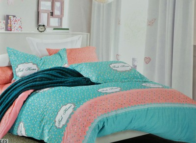 Silver Thread Polycotton Printed Double Bedsheet