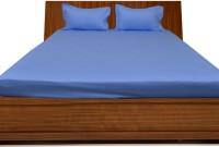 Misr Cotton Plain Single Bedsheet(1 Bed Sheet, 2 Pillow Covers, Sky Blue)