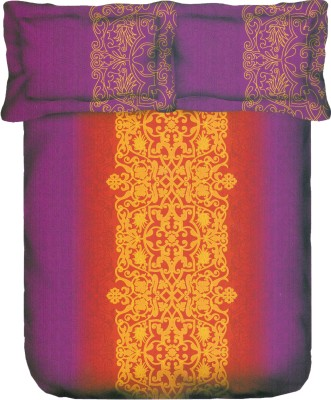 Portico New York Cotton Silk Blend Printed King sized Double Bedsheet