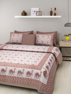 Rajasthani Print Cotton Printed Double Bedsheet