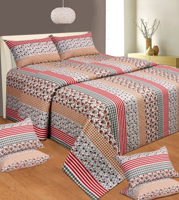 Aanand Sarover Cotton Floral Double Bedsheet