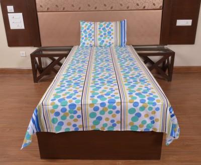 DnF Cotton Geometric Single Bedsheet