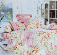 Valtellina Cotton Floral Single Bedsheet(1 Bedsheet, 1 Pillow Cover, Pink)