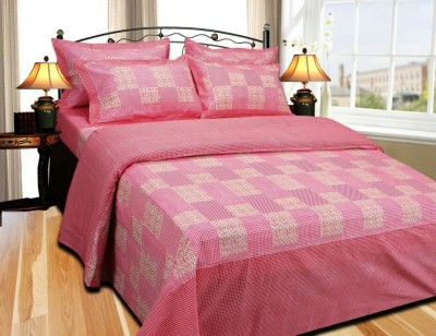 KGM Cotton Checkered King sized Double Bedsheet