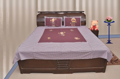 Sartaj Cotton Cartoon King sized Double Bedsheet