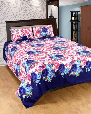 Optimistic Home Furnishing Cotton Silk Blend Floral Double Bedsheet