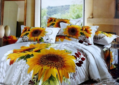 Shoppeholics Cotton Floral King sized Double Bedsheet