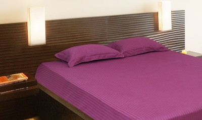 Elan Cotton Plain King sized Double Bedsheet