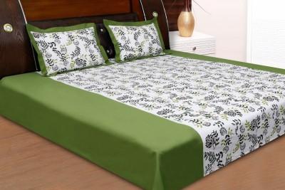 Dekor World Cotton Floral Double Bedsheet