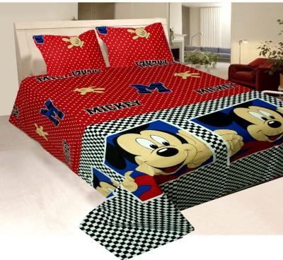 Vugis Cotton Cartoon King sized Double Bedsheet