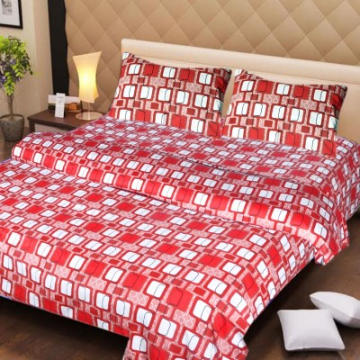 Ech Oly Cotton Printed King sized Double Bedsheet