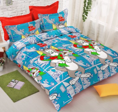 Jupiter Elite Cotton Cartoon Double Bedsheet