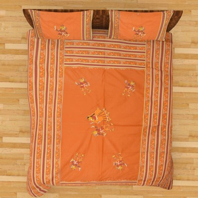 Purecomfort Cotton Embroidered King sized Double Bedsheet