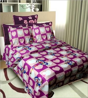 Vugis Cotton Cartoon Double Bedsheet