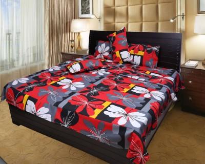 Dreamshomes Cotton Floral Double Bedsheet