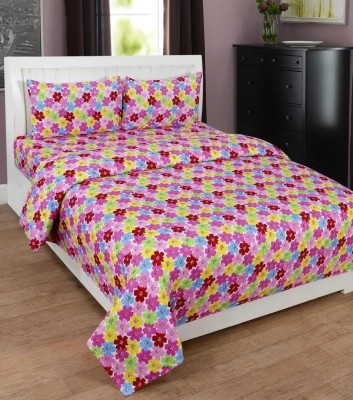 ZAIN Polyester 3D Printed Double Bedsheet