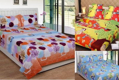 Home Decor Polycotton Abstract Double Bedsheet