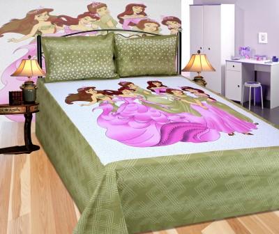 Dreamshome Cotton Floral Double Bedsheet
