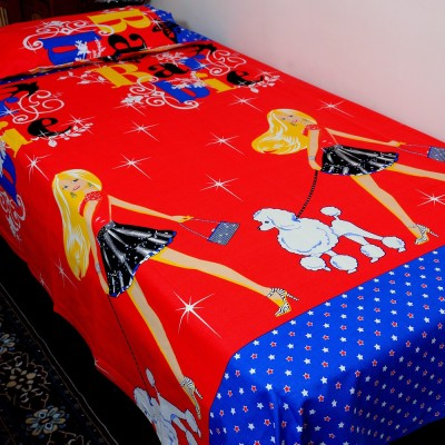 Balaji Texo Fab Cotton Cartoon Single Bedsheet