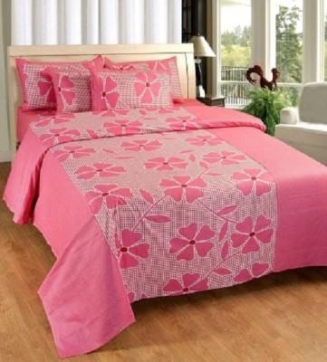 YashnaDecor Cotton Floral Double Bedsheet