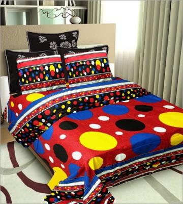 Vugis Cotton Polka Double Bedsheet