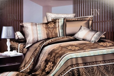 Welhouse India Polyester Abstract Double Bedsheet