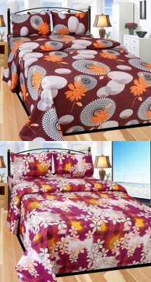 Kingsway Cotton Floral Double Bedsheet