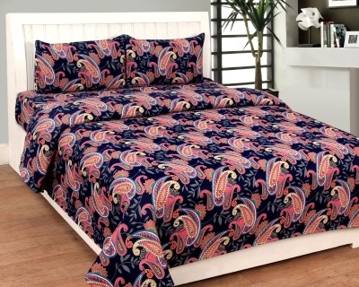 Bed & Bath Polycotton 3D Printed Queen sized Double Bedsheet