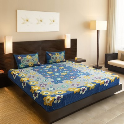 Chaddars Cotton Floral Double Bedsheet