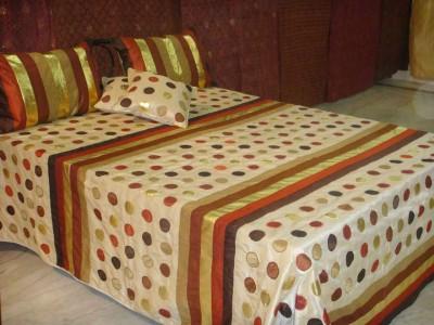 Diti Impex Velvet, Silk Geometric Double Bedsheet