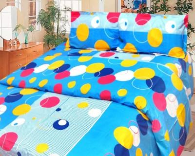Cosmosgalaxy Cotton Geometric Double Bedsheet