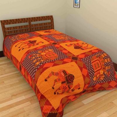 Rajkruti Cotton Animal Single Bedsheet