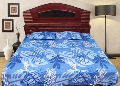 Wraps N Drapz Polyester Floral Double Bedsheet