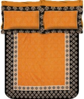 Buy Clues Cotton Printed Double Bedsheet(1 Double Bed Sheet, 2 Pillow Covers, Yellow) best price on Flipkart @ Rs. 750