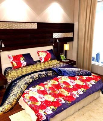MEHAR HOME Polycotton Floral Double Bedsheet