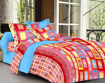 Vaani Cotton Abstract King sized Double Bedsheet