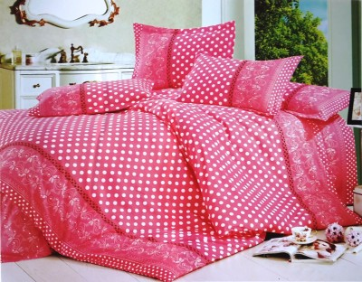 Solitaire Polycotton Polka Double Bedsheet