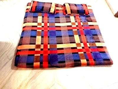 Shreem 2015 Velvet Checkered Double Bedsheet