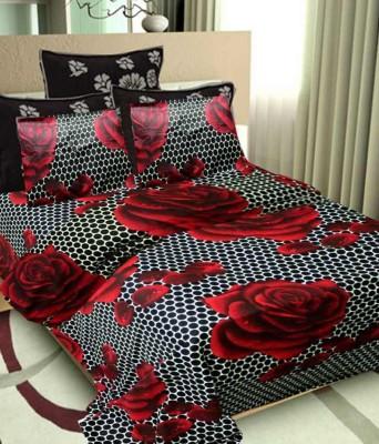 Rangoli Cotton Abstract Double Bedsheet